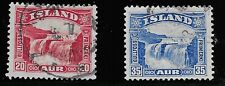 Iceland Scott #171-72, Singles 1931-32 FVF Used