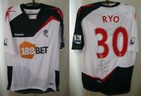 SIGNED Bolton Wanderers #30 Ryo 2011/2012 Home Sz L Reebok shirt jersey football