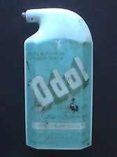 WHITE milk glass FULL LABELED antique TOOTH POWDER bottle - Odol - For the TEETH