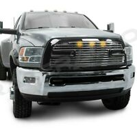 Big Horn 2+3x LED Black Replacement Grille+Shell for 10-18 Dodge RAM 2500+3500