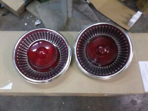 1959 ford all models tail light assemblies with ford lenses 8 +++ condition