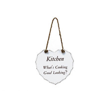 Large Shabby Chic Wooden Heart Plaque Kitchen Home Door decor Signs Gift Boxed