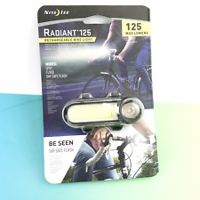 Nite Ize Radiant 125 Lumens Rechargeable Bike Light, New #2216