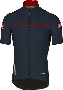 Castelli Men's Perfetto Light 2 Navy Blue Short Sleeve Cycling Jacket Large