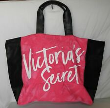 NWT Victoria's Secret Large Travel Tote Bag - Black & Pink Tie Dye