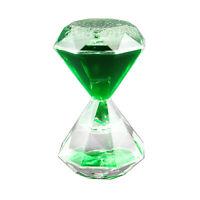 GREEN Liquid Motion Hourglass Timer Autism Sensory Toy Desktop Stocking Stuffer