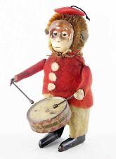 SINGE AU TAMBOUR SCHUCO  /  jouet ancien antique toy