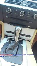 Cuffia leva cambio in vera pelle BMW 530 mod. E60 2003 al 2010 cambio AUTOMATICO