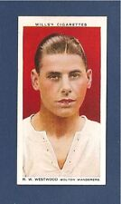 BOLTON WANDERERS  RAY WESTWOOD   BWFC  The TROTTERS  1935 Burnden Park