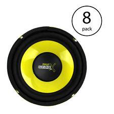 Pyle PLG64 6.5 Inch 300 Watt Car Mid Bass Subwoofer Sub Power Speaker (8 Pack)
