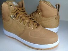 Nike Lunar Force 1 Sneakerboot Wheat Gold White SZ 8.5 (654481-700)