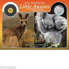 2011 Australian Little Aussies - ANA Show Special Silver and Gold Two Coin Set