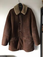 GUCCI Authentic Men's Jacket Coat Shearling Leather Brown Size 56 Italy