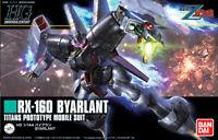 BANDAI GUNDAM HIGH GRADE - RX-160 BYARLANT -TITAN`S MOBILE SUIT 1/144 MODEL KIT