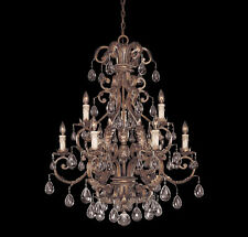 Savoy House Chastain 9 Light Chandelier in Tortoise Shell W/Silver 1-5307-9-8