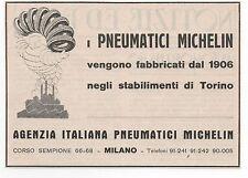 Pubblicità 1933 PNEUMATICI GOMME MICHELIN AUTO MOTO CAR advert werbung publicitè