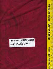 """MBW BURGUNDY,  108"""" EXTRA WIDE QUILT BACKING BTY 100% COTTON MARBLECIOUS"""