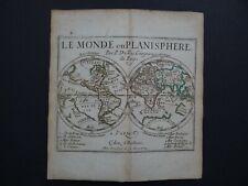 1676 Pierre DU VAL  Atlas  WORLD map - Le Monde Planisphere - California - Duval