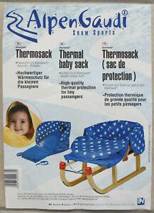 AlpenGaudi Baby Kleinkind Thermosack Blau für Rodel/Schlitten