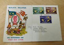 Tunku Abdul Rahman Design 1963 Merdeka Day 3v stamp full set FDC