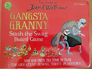 The World of David Walliams Gangsta Granny Stash The Swag Board Game for kids