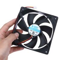 120mm 120x25mm DC 12V 3Pin Brushless PC Computer Case Cooling Cooler Fan 1800RPM