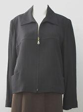 RAFFINATI Size 16 Dark Blue Long Sleeve Fully-Lined Blazer
