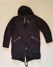 Men PAUL SMITH COAT PARKA COAT Fishtail Black Down Quilted Size XL (46) RRP £700
