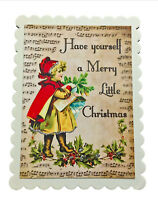 Vintage Looking Merry Little Christmas Decorative Trinket Boxes