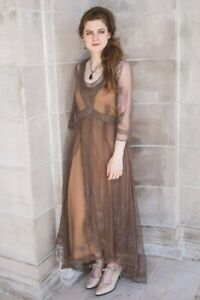 Victorian Trading Co Nataya Carmel Layered Gown Tea Party Dress MD 43C