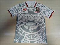 Mexico 1998 White Retro Soccer Jersey HERNANDEZ. BLANCO