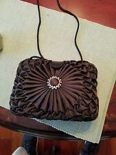 SMALL SATIN EVENING CROSSBODY WITH BLING