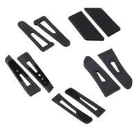 8 teiliges Kunststoff Klettband für Kleidung, verstellbar schwarz