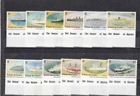 TRISTAN DA CUNHA - SG553-564 MNH 1994 SHIP DEFINITIVES - FULL SET 1p - £5