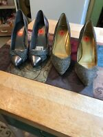 2 Pairs Stilleto Shoes Formal Size 7