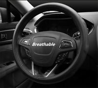 Luxury Real Leather  Breathable Auto Car Steering Wheel Cover 38cm