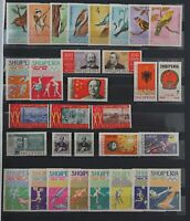 Albania 1964 range of sets and singles to include Riccione, Olympics Mint Stamps
