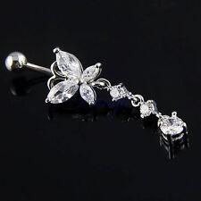 Piercing papillon diamant pendant Nombril Navel Gothique HG