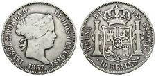 ISABEL II. 10 REALES. 1857. MADRID.