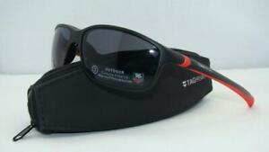 Tag Heuer 27 Degree 6021 102 Matte Black & Red Sports Sunglasses Sonnenbrille
