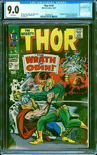 Thor 147 CGC 9.0 -- 1967 -- Loki Battle. Inhumans. Kirby art #1969486016
