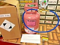 R410a, Refrigerant Recharge Top-Off Kit, 5 lb. Instructions, Color Coded Gauge