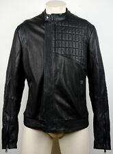 KARL LAGERFELD Lederjacke Leather Jacket Herren Bikerjacke Gr.50 NEU mit ETIKETT