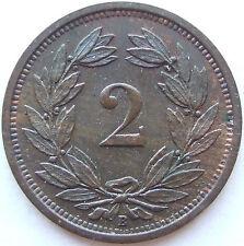 TOP! 2 RAPPEN 1928 B in BANKFRISCH / STEMPELGLANZ SELTEN !!!
