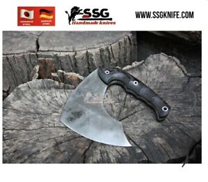 Custom Forged High Carbon Steel Full Tang hunting, and survival  knife Axe