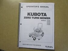 Kubota Z122 Z121 Z125 Z 122 121 125 E S ZTR Mower owners & maintenance manual