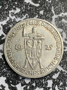 1925-J Germany 3 Marks Lot#JM3201 Silver! Nice!