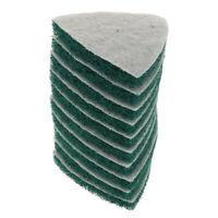10 Pezzi Tampone Abrasivo Paglietta Triangolo Lucidare Industriale Fibra Nylon