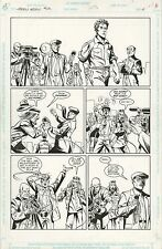 Green Arrow ORIGINAL ART PAGE 6 Frank Springer Pencils, Pablo Marcos Inks 1992 Comic Art