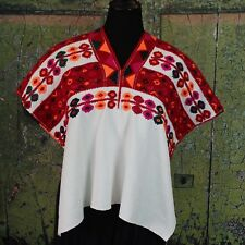 Traditional Vintage Tenejapa Huipil Chiapas Mexico Hand Woven Mayan Boho Hippie